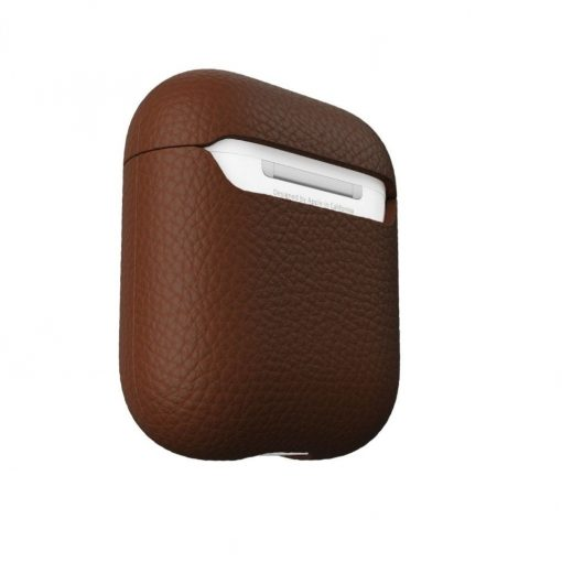 Podskinz Artisan Series Leather Case - Handcrafted Leather Case For Your Airpods Natural Brown