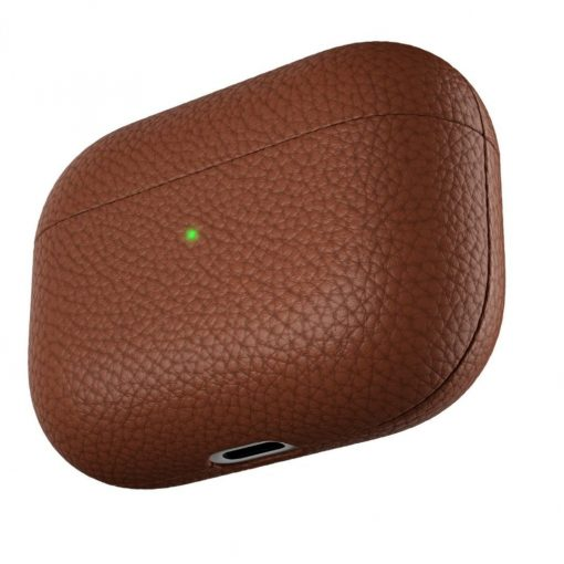Podskinz Artisan Series Leather Case - Handcrafted Leather Case For Your Airpods Pro Natural Brown
