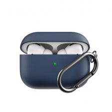 Podskinz Hybridshell Series Keychain Case - Premium Hard Shell Triple Layer Case For Your Airpods Pro Midnight Blueblue