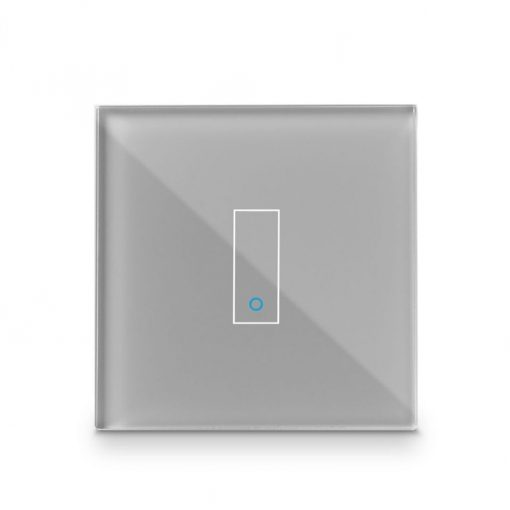 Iotty Smart Switch Single Button Faceplate - Design Your Own Smart Switch Grey