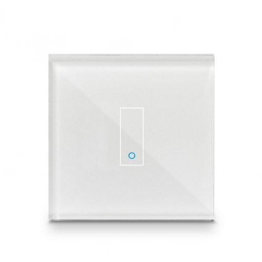 Iotty Smart Switch Single Button Faceplate - Design Your Own Smart Switch White