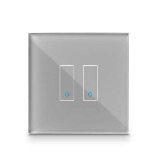Iotty Smart Switch Double Button Faceplate - Design Your Own Smart Switch Grey