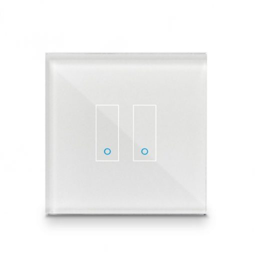 Iotty Smart Switch Double Button Faceplate - Design Your Own Smart Switch White