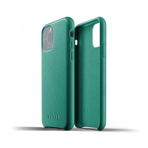 Mujjo Full Leather Case For Iphone 11 Pro Alpine Green