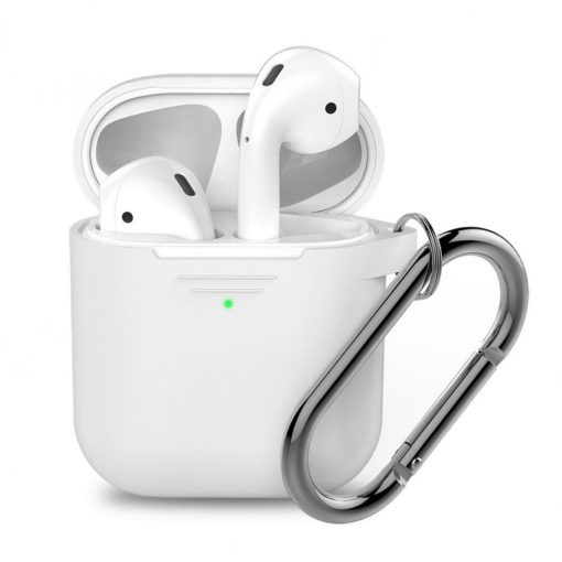 Podskinz Keychain Series - Protective Silicon Cover For Your Airpods White