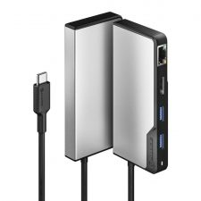 Alogic Usb-C Fusion Alpha 5-I-1 Hub Hdmi, Usb, Ethernet &Amp; Pd - Space Grey