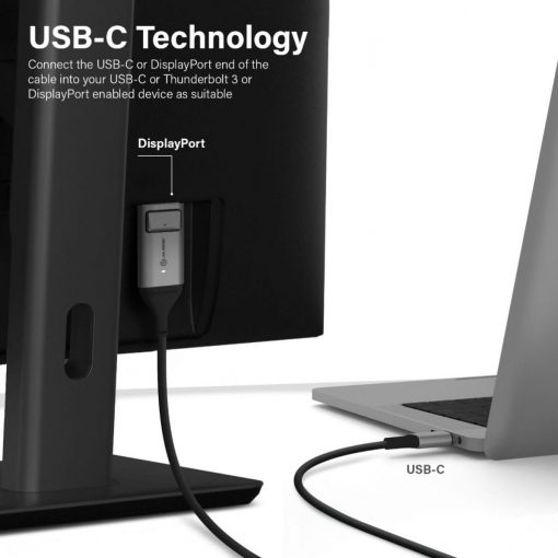 Alogic Ultra Usb-C To Displayport 4K @60Hz 2 M