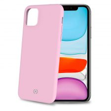Celly Feeling Iphone 11 Silikone Cover, Lyserød