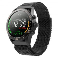 Forever Icon Aw-100 Vandtæt Smartwatch, Sort