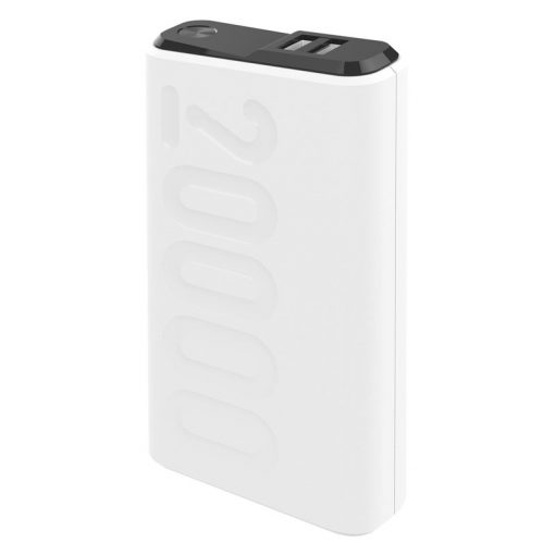 Celly 20.000 Mah 18W Usb-C Pd + Usb-A Quick Charge 3.0 Powerbank, Hvid