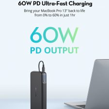 Ravpower Pioneer 20.000 Mah 60W Usb-C Pd + Qc Powerbank, Sort