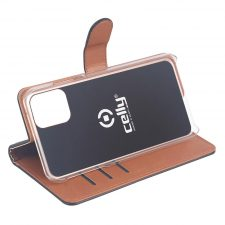 Celly Wally Iphone 12/12 Pro Cover, Sort/Cognac