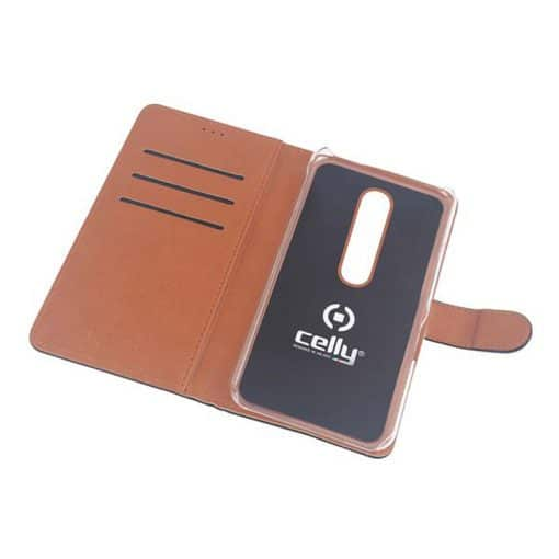 Celly Wally Oneplus 7 Cover, Sort/Cognac