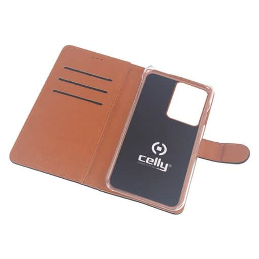 Celly Wally Samsung Galaxy S20 Ultra Cover, Sort/Cognac