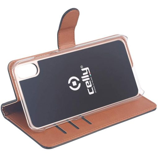 Celly Wally Iphone Xr Cover, Sort/Cognac